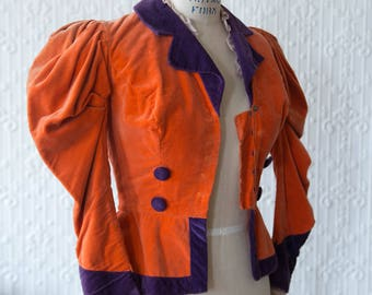 70's Does Victorian Mutton Sleeve Jacket