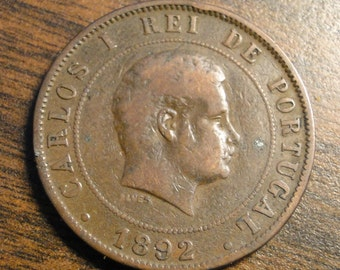 1892 Portugal 20 Reis -  Nice Coin!