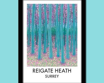 Reigate Heath Travel Poster