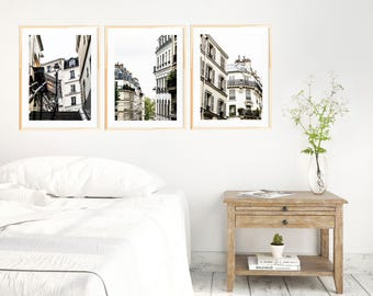 Paris Photography Set 01 - Three Print Set - Save 20% off Individual Price - Montmarte Collection