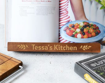 Personalised Kitchen Recipe Book Holder - Kitchen Foodie Chef Cook Birthday Christmas Gift