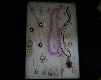 Vintage Jewelry Lot Necklaces And Earrings #372