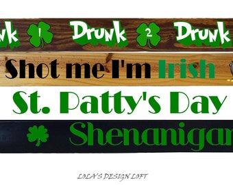 Shot Ski, Shotski, Shot Board, St. Patty's Day, St. Patricks Day, Drinking Game, Bachelorette Party, Bachelor Party, Add Light Up Shot Glass