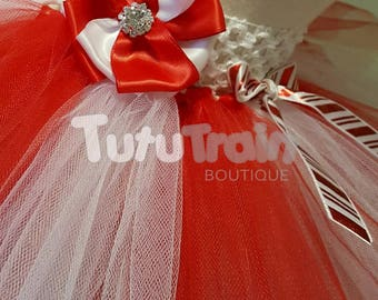 Christmas Tutu Skirt, Candy Cane Tutu, Photo Prop,  Holiday Tutu Skirt, Red and White Tutu, Christmas Dress, Holiday Dress