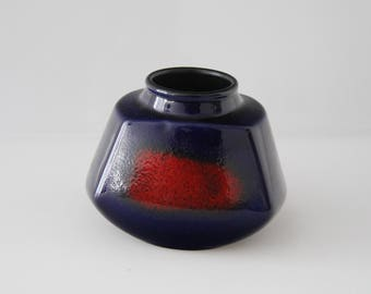 Awesome P. Gerz vase, 3005 West German Pottery Wgp Fatlava