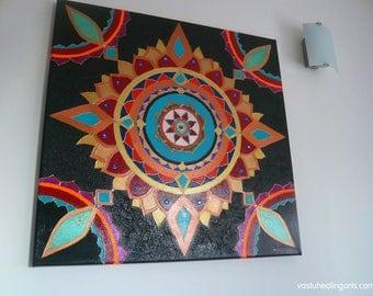 Bronze-Black Sun Mandala - Vastu Healing Arts - Sacred Geometry