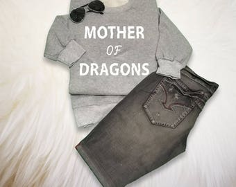 Mother of Dragons Sweatshirt Unisex Tumblr Grunge Sweater Funny Graphic Teen Sweatshirts Cool Hipster Gift Polyvore Pinterest Christmas