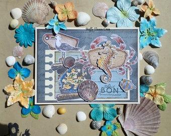 Good Sea Sea Sea Horse Theme birthday card