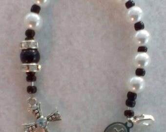 Black and White Pocket Rosary
