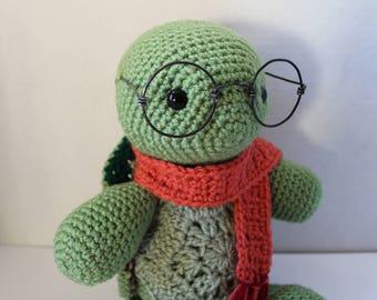 Amigurumi, crochet stuffed turtle plushie