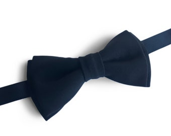 "Black Pre Tied Bow Tie ""Franck"", Best Handmade Gift For Man, Weddings, Birthday, Valentines Day"