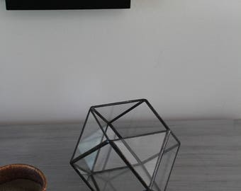 Small Geometric Terrarium Cuboctahedron Glass Terrarium Container Air Plant Succulent Planter Table Centerpiece Candle Holder Wedding Gift