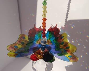Chakra butterfly sun catcher