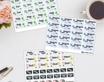 College Semester Starter Pack || College Stickers || Planner stickers