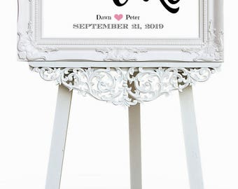 Wedding Cake Sign, Cake Table Sign, Cake Table Decor, Let Them Eat Cake, First Comes Love, Wedding Sign
