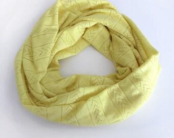 Boho Gift Loop Scarf / Tribal Scarf / Womens Gift Boho Printed Scarf / Fashion Boho Scarf / Yellow Infinity Scarf / Women Scarf Winter Scarf