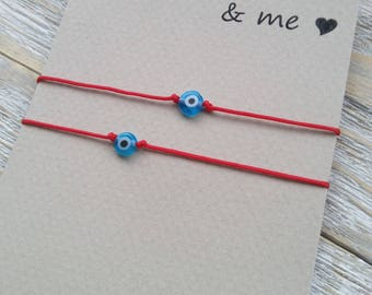 Matching bracelets mommy and me, Evil eye set of bracelets, Mother and daughter bracelets, Mother and son bracelets, Protection bracelets