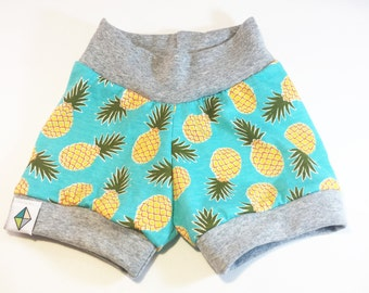 Turquoise PIneapple Shorties