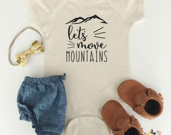 Let's Move Mountains Bodysuit or Toddler Tee