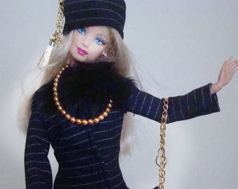 HELD 3 Haute couture French dress clothes, barbie, silkstone, fashion, or other 30cm