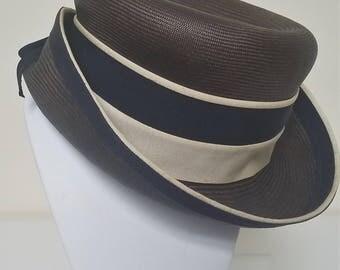 Vintage Mister T Straw Boater Hat