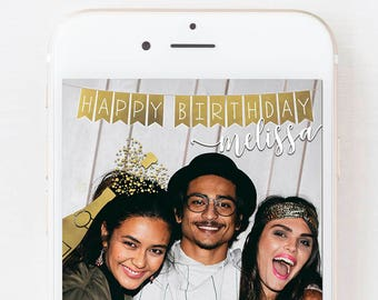 SNAPCHAT GEOFILTER BIRTHDAY, Snapchat Birthday Geofilter, Birthday Decor, Birthday Gifts for Her, Personalized Gift, Champagne Geofilter,