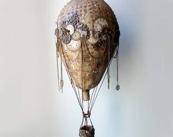 Steampunk hot air balloon, Vintage balloons, Hot air balloon model, Decorative hot air balloons