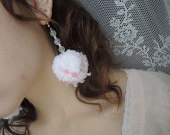 Fuwa Fuwa Cotton Candy Earrings