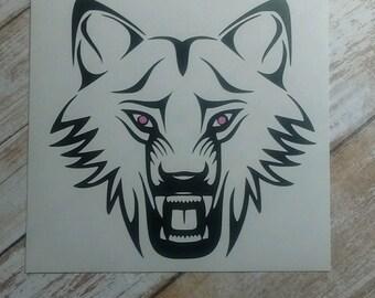 Wolf Decals/Monograms/Football/Pop Warn/School Mascot/Football Team Monograms/Football Decal/Wolves Sticker/College Team /Ocean Life