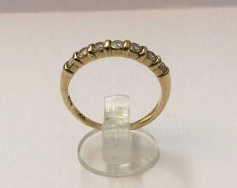 9ct Gold & 0.4ct Diamond Ring - Hallmarked - Size 6.5 (UK N)