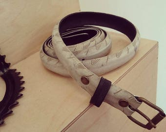 White belt made from and old bike tire - 2,5cm wide