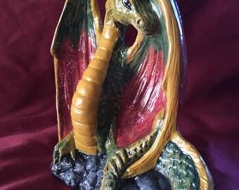 The elven dragon figurine by wizzard emporium