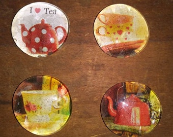 Tea Magnets - Teacup Magnets - Tea Lover Magnets