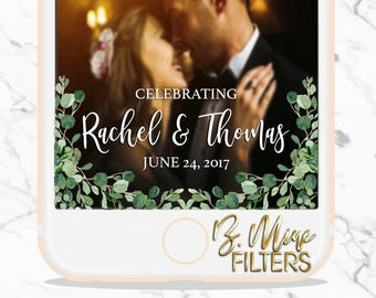 Wedding Snapchat Geofilter, LEAVES SNAPCHAT, CUSTOM Snap,Watercolor Snapchat Filter, Watercolor Wedding, Classic Wedding, Engagment Snapchat
