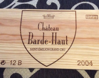 Free Shipping ** French Wood Wine Panel- Chateau Barde-Haut