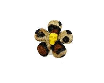 SALE 50% rockabilly - flower skull ring