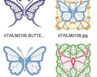Butterfly-Blocks ( 31 Machine Embroidery Designs from ATW ) XYZ17E