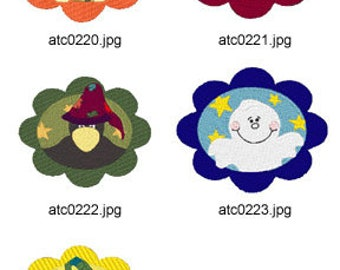 Halloween-Buttons ( 5 Machine Embroidery Designs from ATW ) XYZ17H