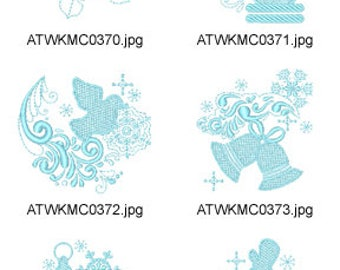 Blue-Christmas ( 17 Machine Embroidery Designs from ATW ) XYZ17K