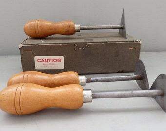 Vintage Brookstone wood Refinishing Restoring furniture Scraper Tool set made in England