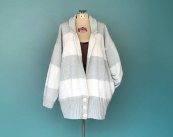 Oversized Cardigan, Maxi Cardigan, Loose Cardigan, Slouchy Cardigan, Long Cardigan, Sweater Jacket, Sweater Coat, Medium Large