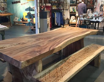 8' Live Edge Acacia Table