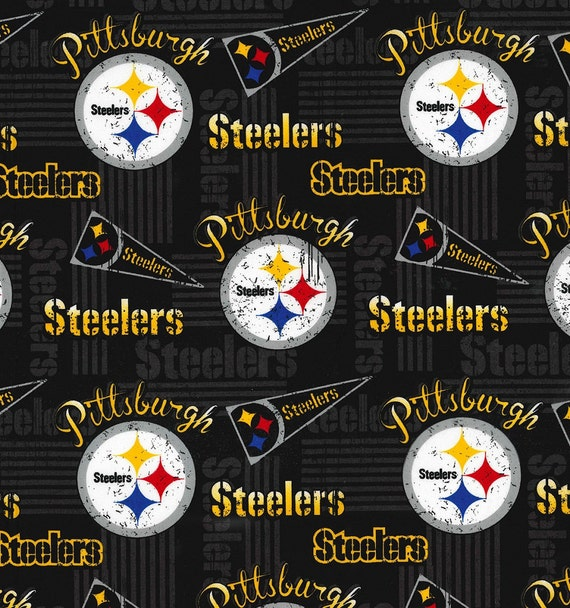 NFL PITTSBURGH STEELERS Vintage Retro Print Football 100% cotton ...