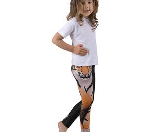 Tiger Kid's leggings, Youth Animal Leggings for Girls and Boys, Toddler Dance Wear, Children's Gymnastic Outfit, Wild Animal, Safari, Zoo