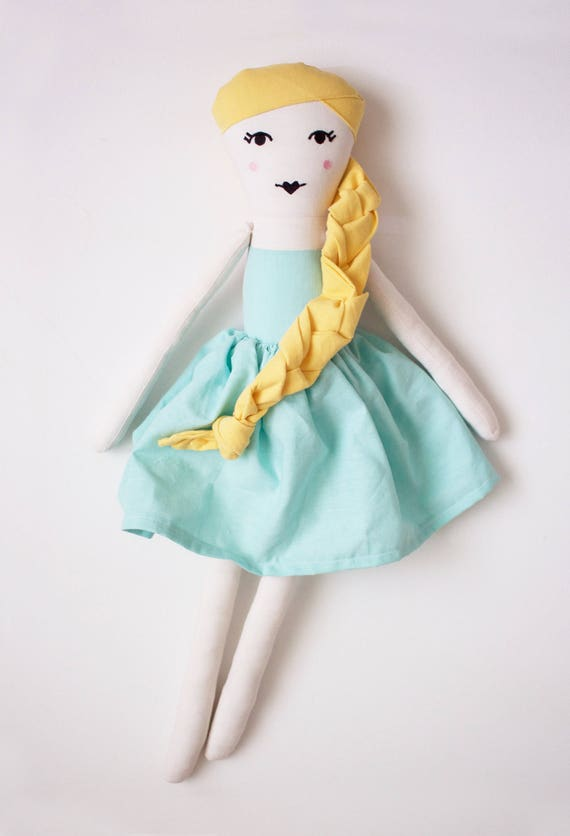 Hollywood Princess Grace Kelly Cloth Doll: handmade with eco-friendly materials
