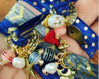 Elastic Bracelet with Nautical Charm