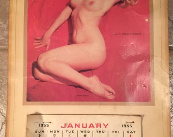 Vintage Marilyn Monroe Golden Dreams 1955 Calendar