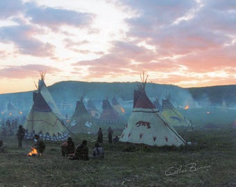 Sunset on the Native camp