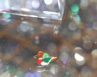 90's Multi-Color Duck Pin Brooch