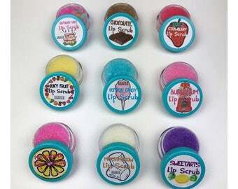 Set of 20 Edible Lip Scrubs | Party Favors, Gift Sets, Discounted Set